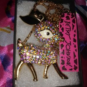 Jewelry - Betsey Johnson Crystal Deer Necklace